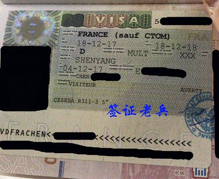 PSED MR. CHEN'S FRENCH LONG-STAY VISITOR VISA
