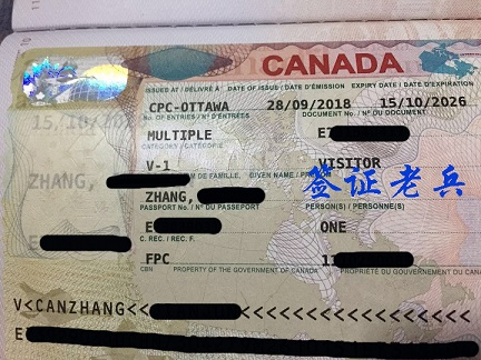 Psed Mr. ZHANG'S CANADIAN VISITOR VISA